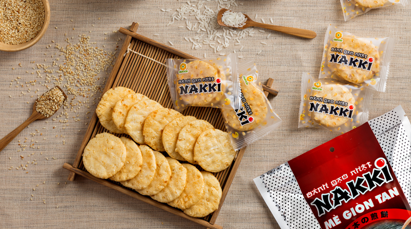 NAKKI Japanese crispy sesame rice cracker